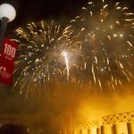 End of celebration fireworks