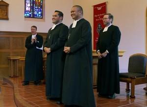 (L-R) Novitiate Director Bro. Kevin Slate, Bro. Roberto Martinez, Bro. Patrick Martin, and District of San Francisco Visitor Bro. Donald Johanson