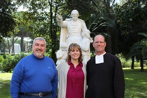(L-R) Brother Michael Livaudais,  Heather Ruple, and Brother James Joost