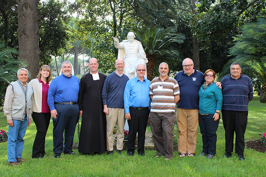 Brother Vincent Pelletier (CIL staff member) and participants Heather Ruple, Brother Michael Livaudais, Brother James Joost, Brother Fran Eells, Brother Stephen Markham, Brother Peter Iorlano, Brother Len Rhoades, Maryann Donohue-Lynch, and Brother Alan Parham