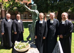 (L-R) Brothers Robert Schaefer, Robert Schieler, Charles Kitson, William Mann, and Dennis Malloy