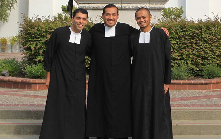 (L-R) Brothers David Deradoorian, Roberto Martinez and Patrick Martin