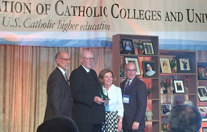 ACCU Honors Brother Thomas Scanlan, FSC