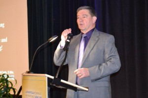 Dr. Robert McCarty, executive director of the National Federation for Catholic Youth Ministry, presents. Courtesy District of San Francisco New Orleans.