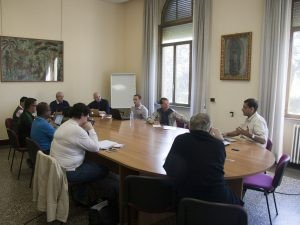 Vocations committee in meeting May 2016 Courtesy Institute Communications
