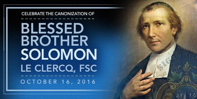 Brother Solomon Le Clercq Canonization Resources